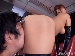 Ria Horisaki gets her pussy licked and pounded from behind