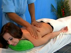 Adorable girl Madison is getting sensual massage
