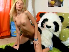 Blonde hottie Sveta gets fucked hard and deep by her lustful friend