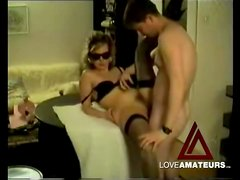Fucking and licking his cute masked wife