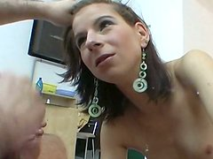 Ugly pallid amateur hooker wins a dick and shows her sucking ability