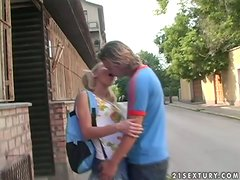 Helena Sweet seduces her neighbour and has ardent sex with him