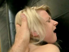 Alluring blonde cutie gets her asshole fucked hard by a big cock
