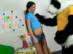Nasty chick Jess flirting with  her favorite big toy