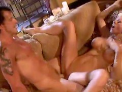 Blonde bimbo needs to fuck and gets it hard