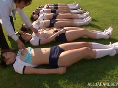 THe damn line of hot Japanese teens are getting fucked