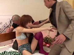 After seducing several dudes slutty oriental chick Miina Yoshihara gets cunnilingus