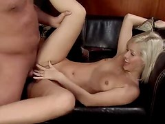 Fresh blonde craves cock in her box