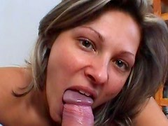 Funny beauty Caroline Cage and nice dick in her mouth