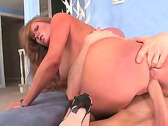 Mature big ass lady Darla Crane rides a