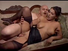 Horny Italian plugged in her ass