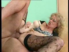 Sexy stockings teacher fucked on her desk