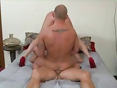 MMF Bisexual Threesome 172