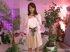 Japanese sweetie gets her pussy fingered and nicely fucked