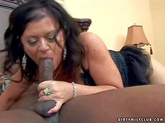 Aroused and big ass brunette momma with pale skin and