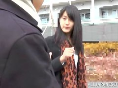 Delightful Japanese babe gets teased in the car