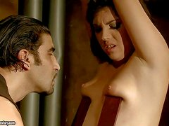 Bijou is another naked helpless slave girl that gets used