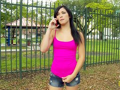 Mandy Sky blows ardently and enjoys active rear banging