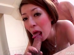 Japanese beauty is horny for hardcore play