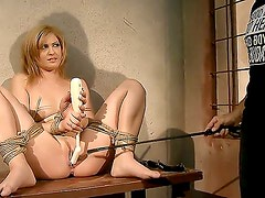 Amazing blonde girl Safira White was tied up by her handsome boyfriend and the only