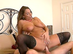 Levi Cash was seduced to fuck by this luxurious cougar Stacie Starr. And he couldnt