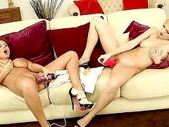 Busty horny lesbian babes Alison Star and Bianca