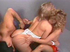 80s porn with two sluts in threesome