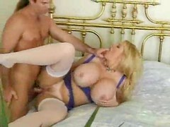 Massive tits on this blonde that craves sex