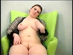 Cute solo fatty playing with vagina