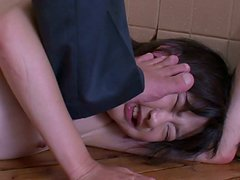 Vulnerable slut Aoba Itou gets humiliated and provides a dick with a blowjob