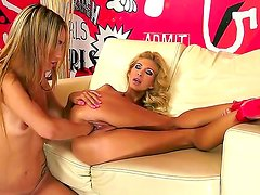 Watch these so seductive, so sexual and so slutty blondes Clara G. and Leyla Black