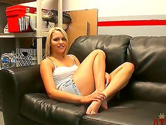 Fantastic blonde girl Mia Malkova is having an amazing private time with