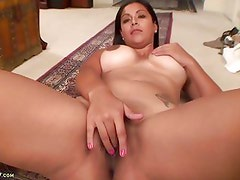 Busty Latin MILF Veronica Strips