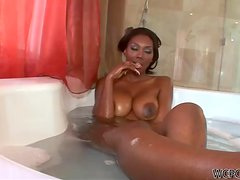 Perfect Black Houswife Nyomi Banxxx Waiting for Her Man Ready For Sex