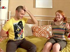 Russian Redhead Gets Her Pussy Pumped and Her Asshole Fucked