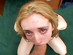 Hot blonde babe Kelly Wells gets gagged and creamed