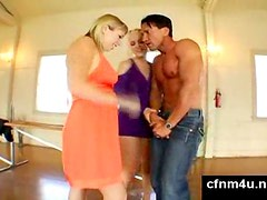 Cfnm - Man made to strip for two chicks