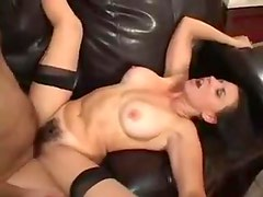 Busty mature with hairy muff rides fat cock