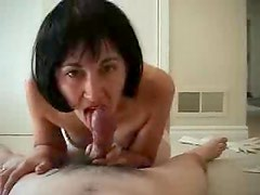 Wife in amazing lingerie sits on her man