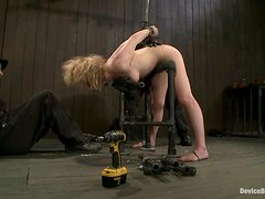 Lily Labeau Enjoys a Throat and Pussy Fucking in Bondage Clip