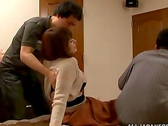 Japanese hottie gets her pussy licked and drilled