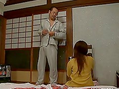 Classic Japanese sex on the floor with Nana Usami