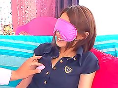 Horny Yuuki Natsume gets toyed and then fucked on a sofa