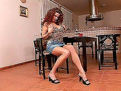 Gorgeous Iveta Rucka toys her tight and pink pussy