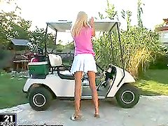 Round of golf with a naughty blond honey Sophie Paris