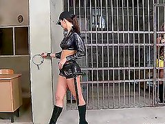 Eve Angel and Eve Smile play sexy role games in a prison