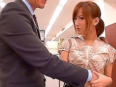 Busty Office Worker from Japan Gets Fucked Hard By Her Boss