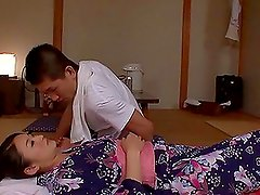 Risa Murakami sucks a cock in 69 position and enjoys multiposition sex