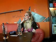 Nasty Blonde Amateur Slut Giving Head and Taking it Deep in POV