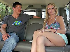 Amanda Tate's Shaved Tight Pussy Gets Fucked On a Fuck Van